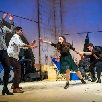 A scene from A Midsummer Night's Dream by William Shakespeare @ Lyric Theatre, Hammersmith (Opening 13-04-18) ©Tristram Kenton 04-18 (3 Raveley Street, LONDON NW5 2HX TEL 0207 267 5550 Mob 07973 617 355)email: tristram@tristramkenton.com