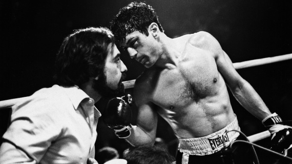 Raging Bull (1980) - Martin Scorsese on the set with Rober De Niro