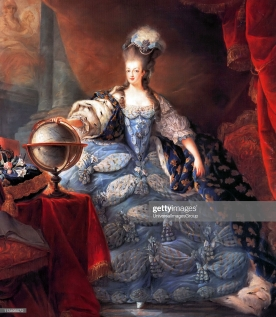 UNSPECIFIED - CIRCA 1754: Marie Antoinette, Queen Consort of France (1755 - 1793). Marie Antoinette, Queen of France, in coronation robes by Jean-Baptiste Gautier Dagoty, 1775 (Photo by Universal History Archive/Getty Images)