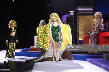 MILAN, ITALY - FEBRUARY 21: A model walks the runway at the Moschino show at Milan Fashion Week Autumn/Winter 2019/20 on February 21, 2019 in Milan, Italy. (Photo by Daniele Venturelli/Getty Images)