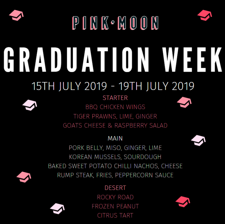 Grad Week Menu Choices