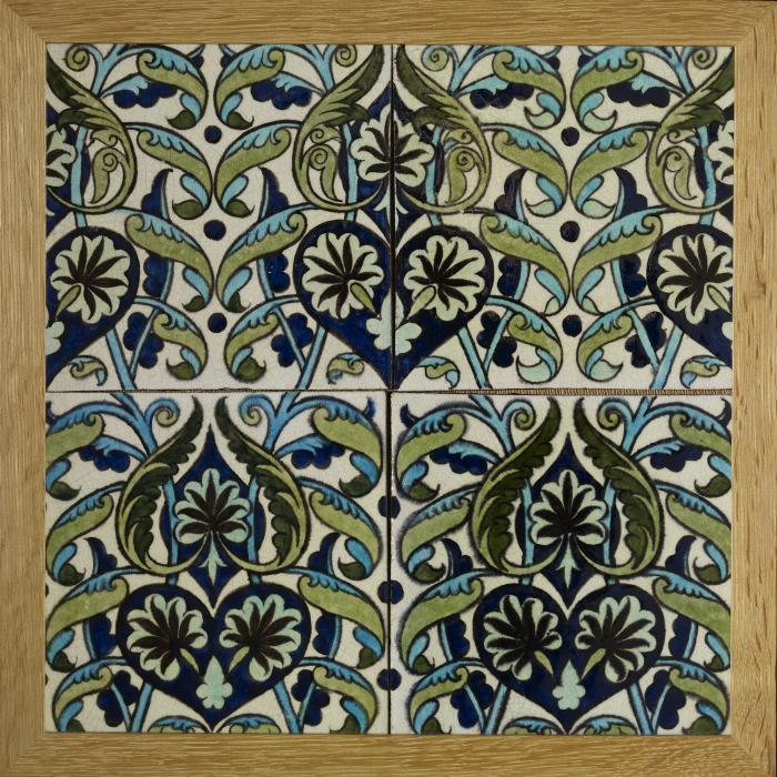 Four-tiles-William-De-Morgan-Co