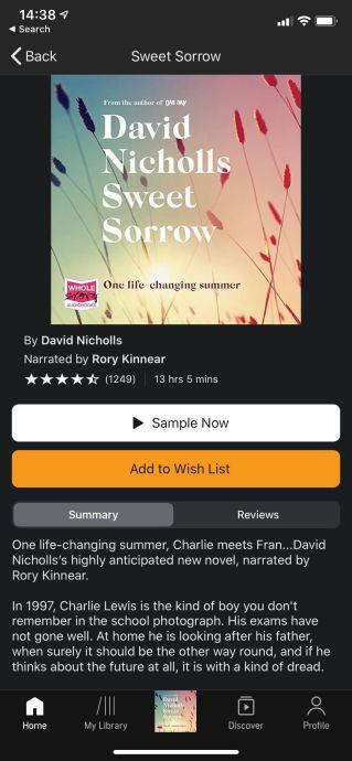 Sweet Sorrow Pic 1